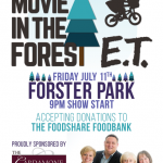 E.T. – Movie In The Forest – July 11th 9-11pm